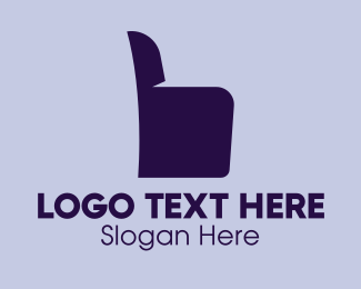 Thumb - Chair Armchair Thumbs Up logo design