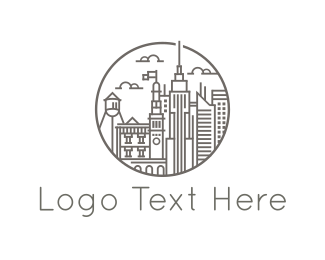 New York - City Buildings logo design
