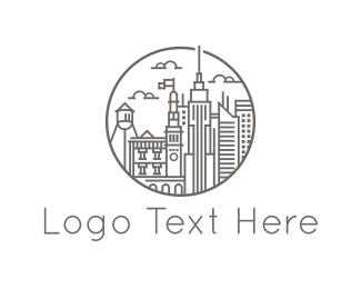 Estate Agency - City Buildings logo design