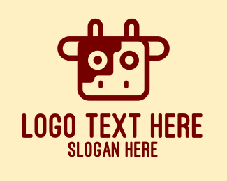 Meat - Cow Head Meat Shop   logo design