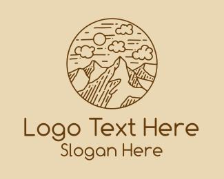 Mountain Range - Mountain Range Line Art logo design