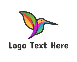 Colibri - Tropical Hummingbird logo design