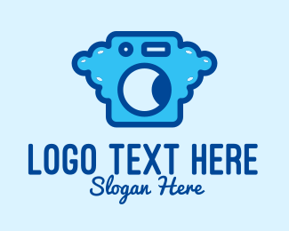 Disinfect - Bubble Laundromat Clothes Wash logo design