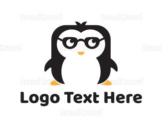 Nerd - Nerd Penguin logo design