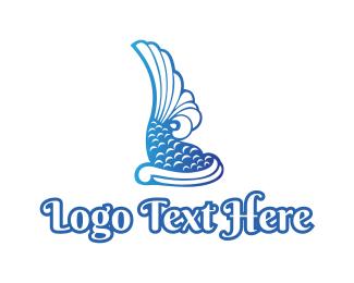 Koi - Royal Koi Fish logo design