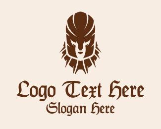 Mysterious - Medieval Warrior Armor logo design