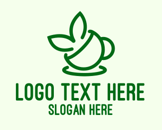 Tea Shop - Tea Cup Leaves  logo design
