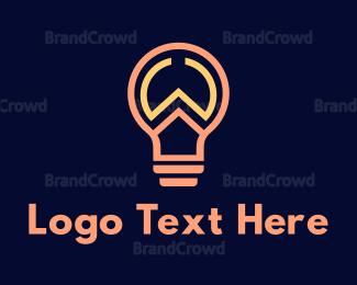 Bulb - Outline W Light Bulb logo design