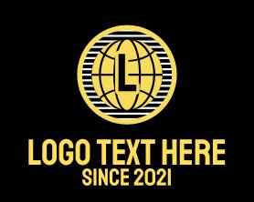 App - Global Earth Letter logo design