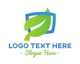 Cable Service - Frame Leaf Media logo design