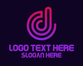 Youtube - Sound Wave D logo design