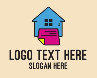 Newspaper - Printing House Shop logo design
