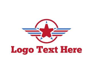 America - American Star logo design