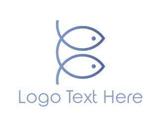 Duo - Fish Duo logo design