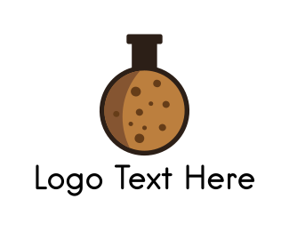 Test Tube - Cookie Biscuit Laboratory logo design