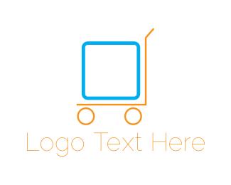 Crate - Box Trolley logo design