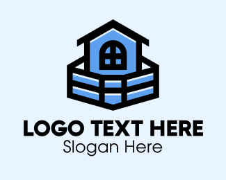 Construction - Blue House Building logo design