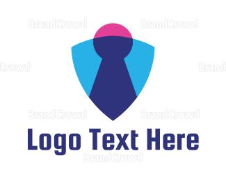 Encrypted - Shield Keyhole logo design