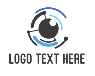 Eye - Tech Eye logo design