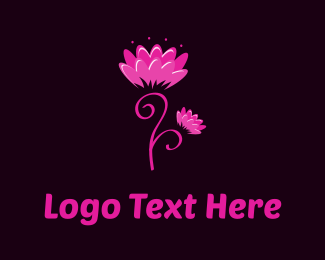 Pretty - Pink Flowers logo design