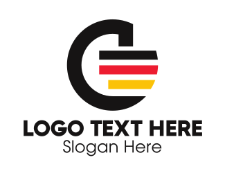 Oktoberfest - German Flag Letter G  logo design