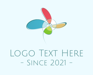Propeller - Abstract Flower logo design