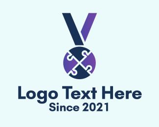 Prize - Puzzle Medal Award logo design