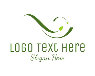 Friendly - Green Leaves logo design