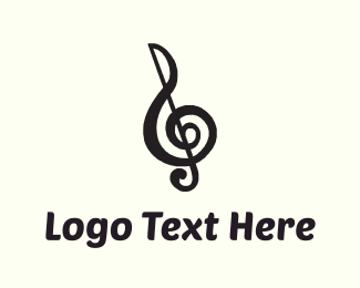 Typography - Musical Note logo design