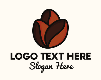 Brown Coffee Bean - Roasted Coffee Beans logo design