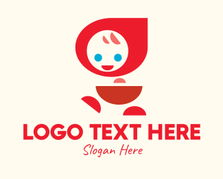 Hood - Cute Red Hood Girl logo design