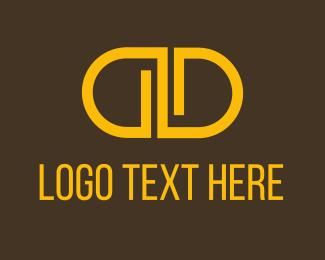 Trendy - Orange Double D logo design
