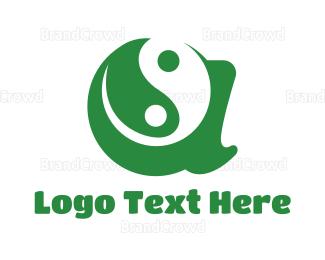 China - Green A Yin Yang logo design