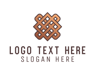 Textile - Weaved Fabric logo design