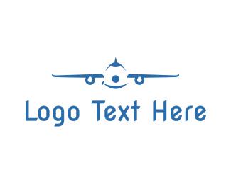 Smiling - Smiling Airplane logo design