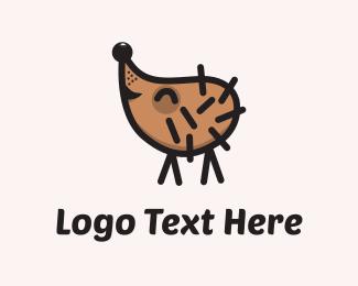 Happy - Happy Hedgehog logo design