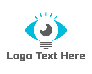 Eye - Lamp Eye logo design