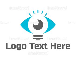 Sight - Lamp Eye logo design