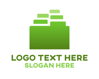 Save - Green Folder logo design