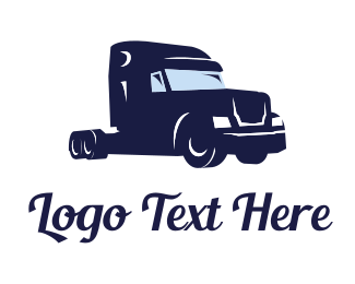 Tractor - Big Blue Truck logo design