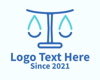 Legal - Water Legal Scales logo design
