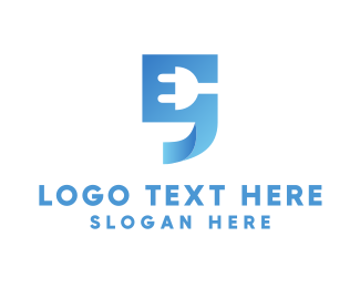 Plug In - Blue Quote  logo design
