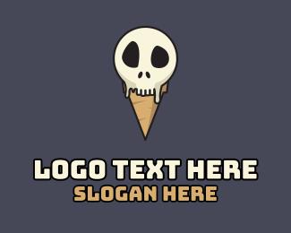 Cranium - Skull Ice Cream logo design