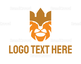 Carnivore - Orange Lion King logo design