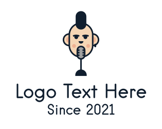 Review - Mohawk Guy Podcast logo design