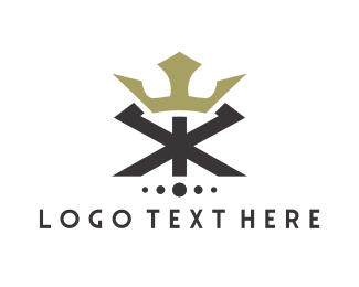 Letter X - Royal Crown logo design