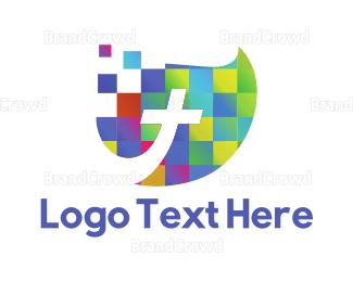 Christian - Cross Mosaic logo design