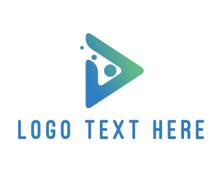 Icon - Play Button Dots logo design
