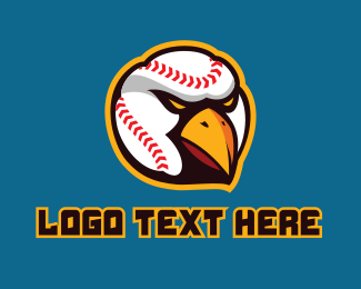 Softball Tournament - Baseball Eagle Mascot  logo design