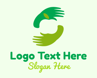 Massage Center - Green Apple Hand logo design